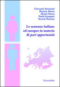 Le sentenze italiane ed europee in materia di pari opportunità