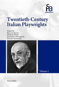 Twentieth-century italian playwright. Vol. 1