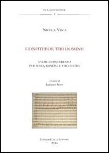 Confitebor tibi domine. Anagni, Archivio della cattedrale, fondo musicale ms Arcap 0835. Con CD Audio