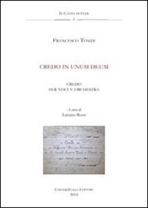 Credo in unum Deum. Anagni, Archivio della Cattedrale, Fondo Musicale Ms Arcap 0802. Con CD Audio