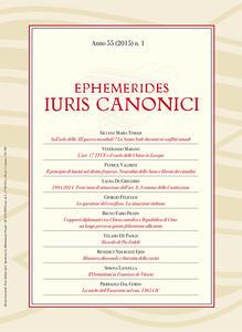 Ephemerides iuris canonici (2015). Vol. 1