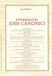 Nicocaradonna.it Ephemerides Iuris canonici (2018). Vol. 1 Image