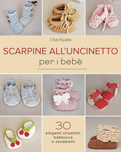 Scarpine all'uncinetto per i bebè