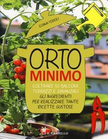Orto minimo. Coltivare su balconi, terrazzi e davanzali gli ingredienti per realizzare tante ricette gustose - Eliana Ferioli - copertina