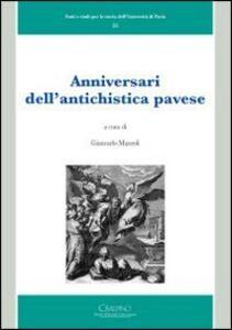 Anniversari dell'antichistica pavese