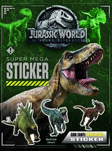 Jurassic world. Super mega sticker. Con adesivi