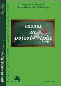 Idee in psicoterapia. Vol. 4: Errori in psicoterapia.