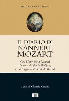 Radiospeed.it Il diario di Nannerl Mozart. Con l'intervista a Nannerl che parla del fratello Wolfgang e con l'aggiunta di scritti di Mozart Image