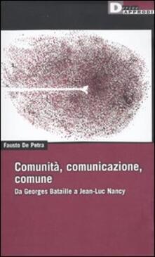 Squillogame.it Comunità, comunicazione, comune. Da Georges Bataille a Jean-Luc Nancy Image