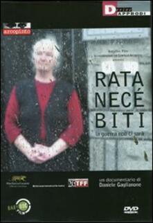 Rata Nece Biti. La guerra non ci sarà. Con DVD - Daniele Gaglianone - copertina