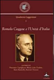 Romolo Caggese e l'unità d'Italia - copertina