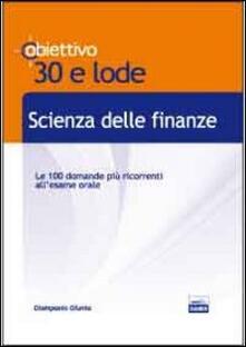 Scienza delle finanze - Giampaolo Giunta - copertina