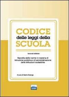 Codice delle leggi della scuola - Mario Falanga - copertina
