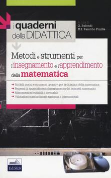 Metodi e strumenti per l'insegnamento e l'apprendimento della matematica - copertina
