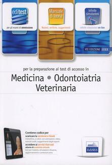EdiTEST 1. Teoria. Medicina, odontoiatria e veterinaria. Per la preparazione ai test di ammissione. Con software di simulazione - copertina