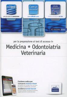 Daddyswing.es EdiTEST 1. Esercizi-Medicina, odontoiatria e veterinaria. Con software di simulazione per la preparazione ai test di ammissione Image
