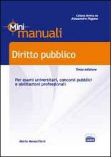 Camfeed.it Diritto pubblico. Mini manuali per esami universitari, concorsi pubblici e abilitazioni professionali Image