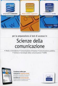 Mercatinidinataletorino.it EdiTEST 8. Manuale. Scienze della comunicazione. Per la preparazione ai test di ammissione. Con espansione online Image