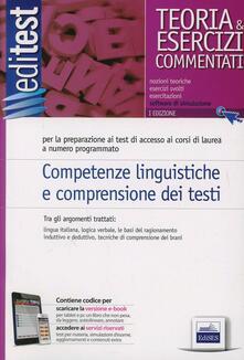 Competenze linguistiche e comprensione dei testi. Teoria e esercizi - copertina