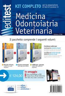 EdiTEST 1. Kit completo di preparazione ai test di accesso in medicina, odontoiatria, veterinaria. Con DVD. Con aggiornamento online - copertina