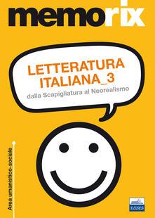 Letteratura italiana. Vol. 3: Dalla Scapigliatura al Neorealismo. - Giovanni De Leva - copertina