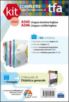 TFA. Classi A345-A346 per prove scritte e orali. Manuale di teoria ed esercizi di lingua e cultura inglese. Kit completo. Con software di simulazione - copertina