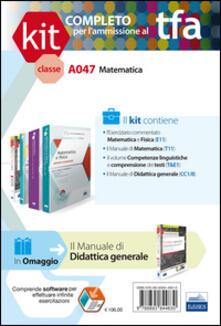 TFA. Classe A047 per prove scritte e orali. Manuali di teoria e esercizi di matematica. Ki completo. Con software di simulazione - copertina