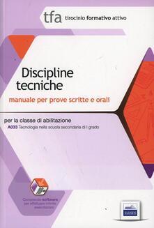 TFA. Classe A033 per prove scritte e orali. Manuali di teoria ed esercizi di tecnologia. Kit completo. Con software di simulazione.pdf