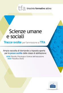 3 TFA. Scienze umane e sociali. Prova scritta per le classi A036 e A037 - copertina