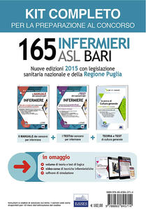 Concorso 165 infermieri ASL Bari: Logica-cultura generale-materie professionali-Teoria e test. Kit completo
