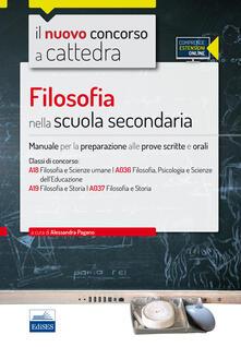 Voluntariadobaleares2014.es CC4/24 Filosofia nella scuola secondaria. Per le classi A18 (A036) e A19 (A037). Con espansione online Image