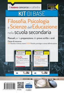 CC 4/24 4/25 filosofia, psicologia e scienze dell'educazione nella scuola secondaria. Manuali... Classe di concorso: A18, A036. Kit di base. Con espansione online - copertina
