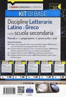 CC 4/6 discipline letterarie, latino e greco. Manuali... Classi di concorso: A22, A043, A12, A050, A11, A051, A13, A052. Kit di base. Con espansione online - copertina