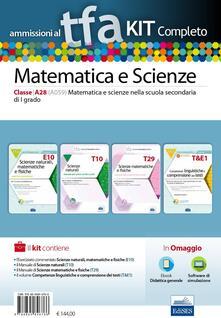 TFA. Matematica e scienze classe A28 (A059) per prove scritte e orali.Kit completo. Con software di simulazione - copertina