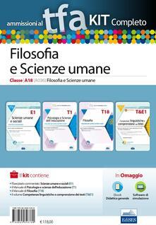 Equilibrifestival.it TFA. Filosofia e scienze umane classe A18 (A036) per prove scritte e orali. Kit completo. Con software di simulazione Image