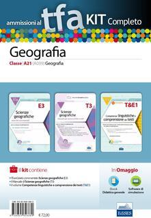 TFA. Geografia classe A21 (A039) per prove scritte e orali. Kit completo. Con software di simulazione - copertina