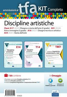 TFA. Discipline artistiche calssi A17 (A025), A01 (A028), A16 (A027), A54 (A061) per proce scritte e orali. Kit completo. Con software di simulazione - copertina