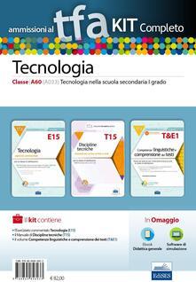 Writersfactory.it TFA. Tecnologia classe A60 (A033) per prove scritte e orali. Kit completo. Con software di simulazione Image