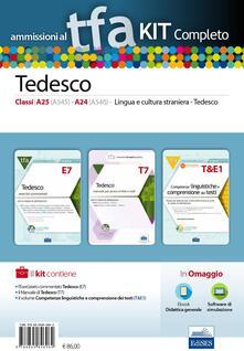 TFA. Tedesco classi A25, A545, A24, A546, per prove scritte e orali. Kit completo. Con software di simulazione - copertina
