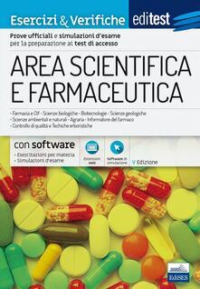 Listadelpopolo.it EdiTEST. Area scientifica e farmaceutica. Esercizi & verifiche. Con espansione online Image