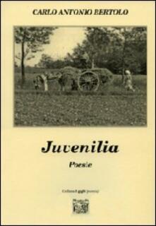 Juvenilia - Carlo A. Bertolo - copertina