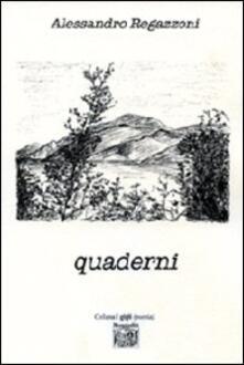 Quaderni - Alessandro Regazzoni - copertina