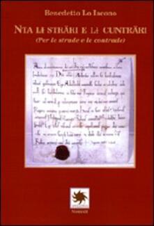 Nta li sträri e il cunträri (Per le strade e le contrade) - Benedetto Lo Iacono - copertina