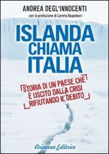 Islanda chiama Italia. Rifiutare il debito per uscire dalla crisi - Andrea Degl'Innocenti - copertina