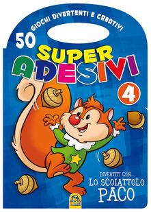 Associazionelabirinto.it Divertiti con lo scoiattolo Paco. Super adesivi. Vol. 4 Image