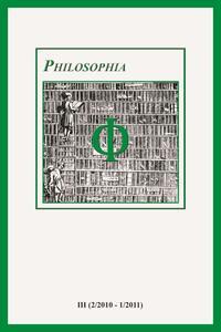 Philosophia. Bollettino della società italiana di storia della filosofia (2011). Vol. 3