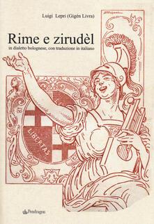Capturtokyoedition.it Rime e Zirudèl in dialetto bolognese, con traduzione in italiano Image