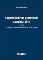 Appunti di diritto processuale amministrativo. Vol. 1: Il giudice, le situazioni soggettive, le forme di tutela.