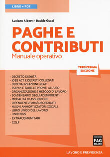 Filippodegasperi.it Paghe e contributi. Manuale operativo. Con ebook Image