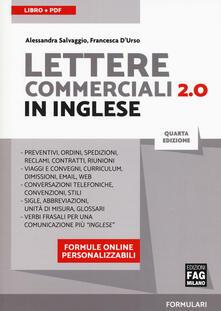 Lettere commerciali 2.0 in inglese. Con Contenuto digitale per download - Alessandra Salvaggio,D'Urso Francesca - copertina
